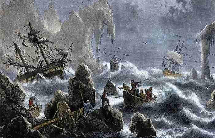 Экспедиция Витуса Беринга попала в шторм у Алеутских островов — 1741 год.