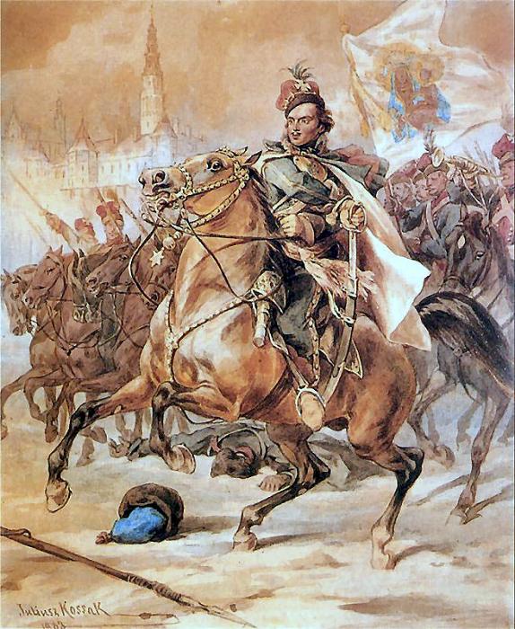 Пулавский во главе войска польских конфедератов. Картина Юлиуша Коссака.